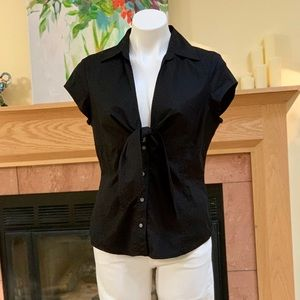 Kenneth Cole Reaction Tie Front Blouse 12